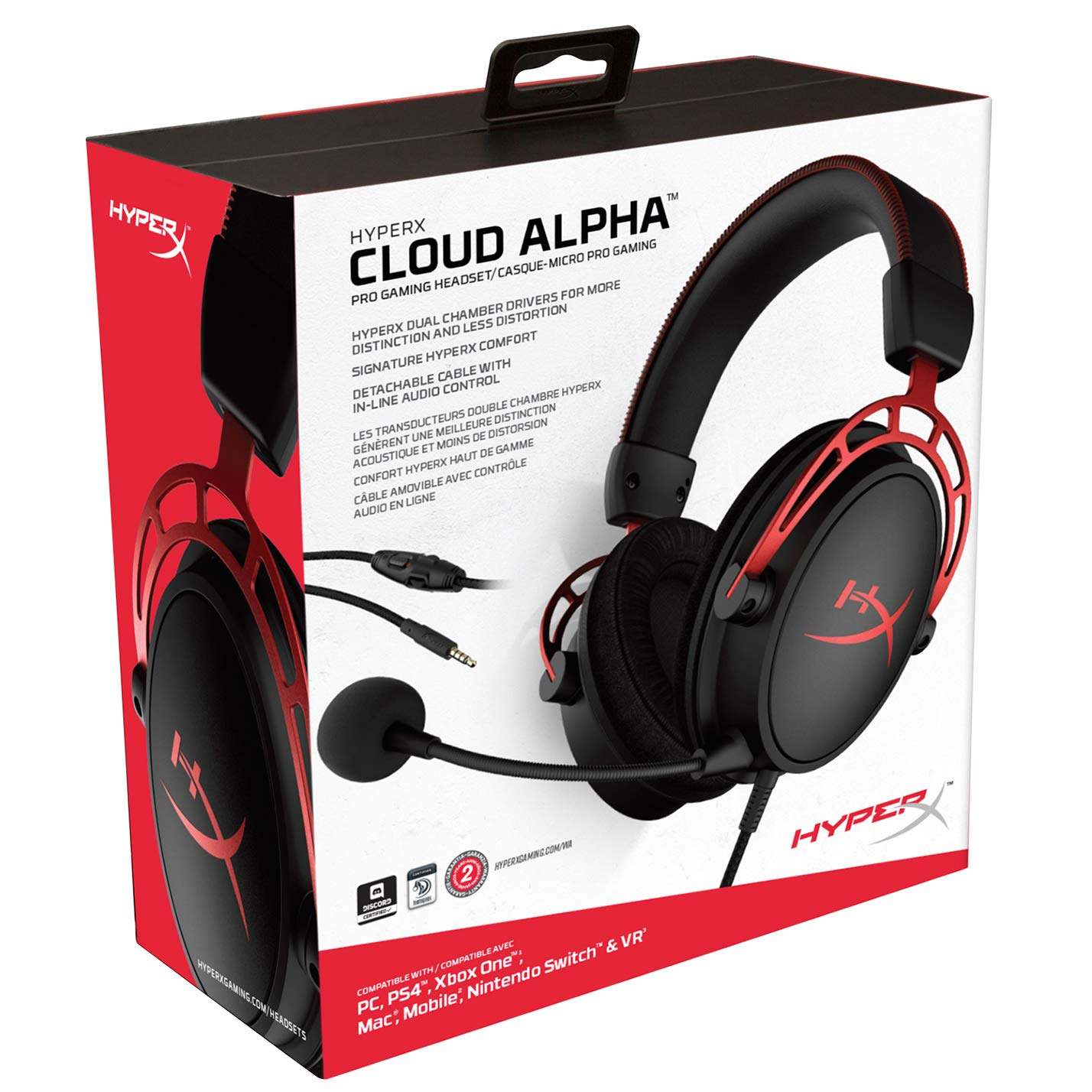 HyperX Cloud Alpha  Red HX-HSCA-RD/EE от  MegaStore.kg