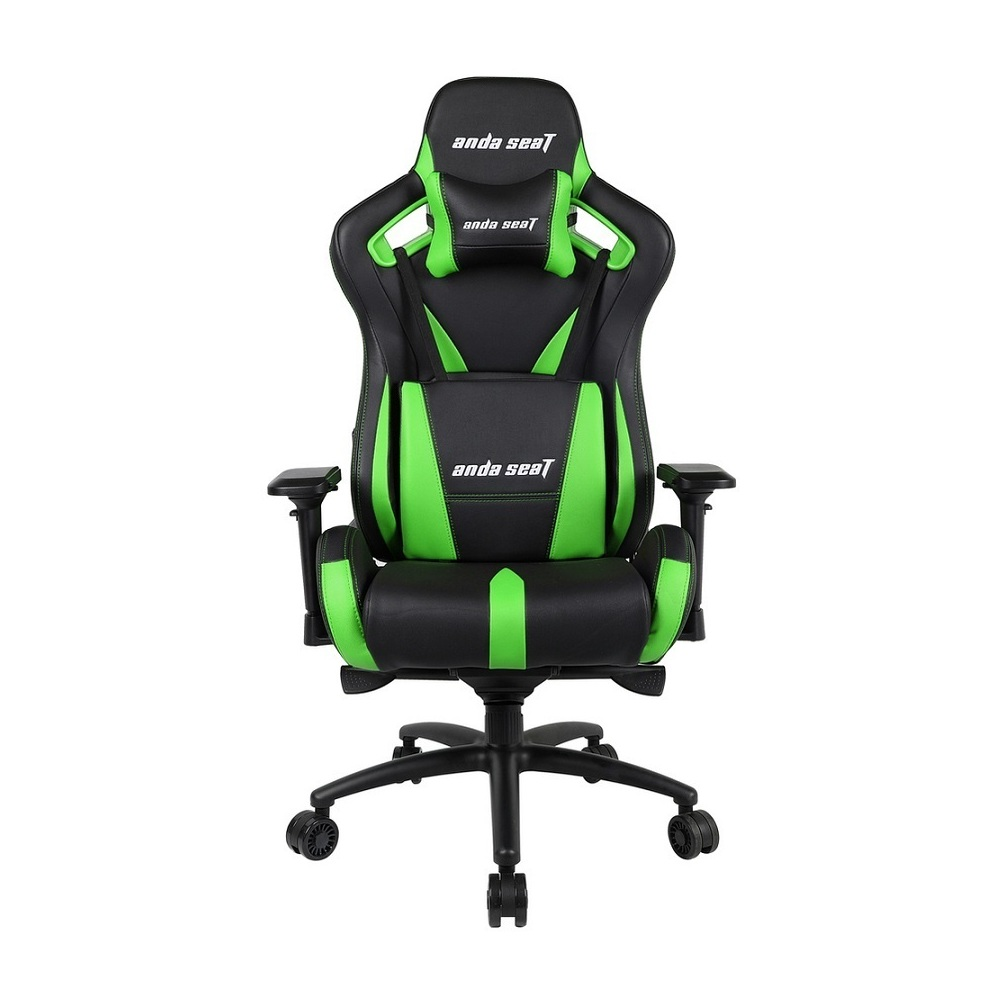 Gaming Chair AD12XL-03-BE-PV-E01 AndaSeat E-sports BLACK&GREEN 4D Armrest 75mm wheels PVC Leather