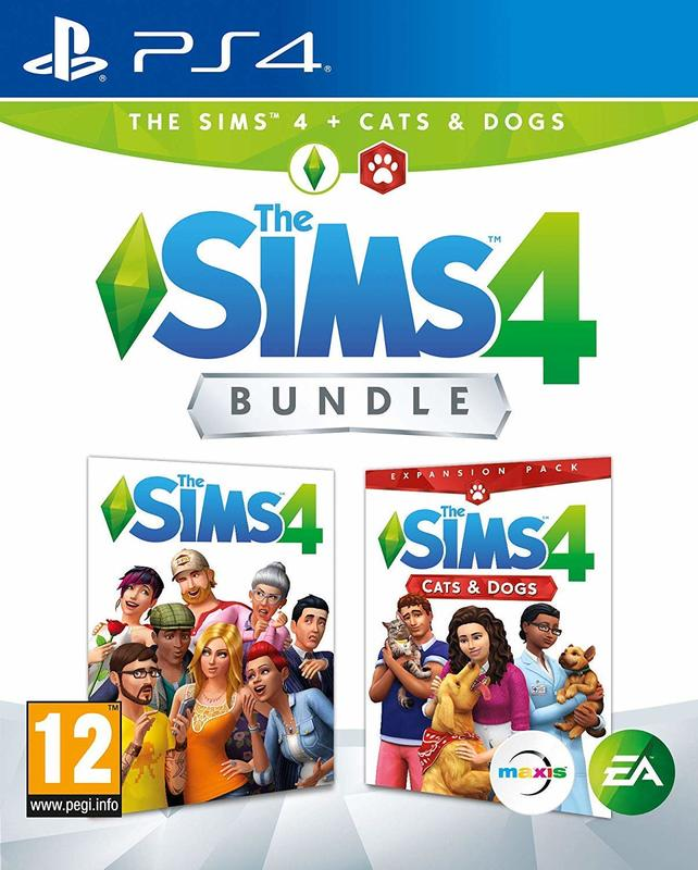 Sims 4 + Cats&Dogs Bundle (PS4, русская версия)